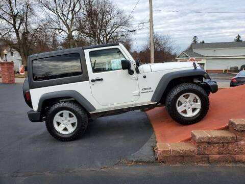 2014 Jeep Wrangler for sale at R C Motors in Lunenburg MA