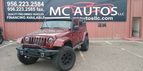2009 Jeep Wrangler Unlimited for sale at MC Autos LLC in Pharr TX