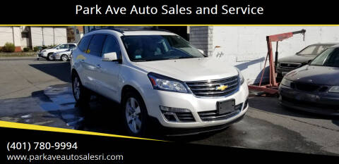 2015 Chevrolet Traverse for sale at Park Ave Auto Sales and Service in Cranston RI