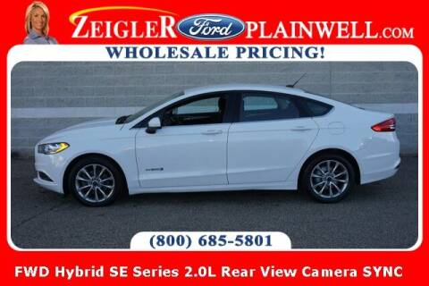 2017 Ford Fusion Hybrid for sale at Zeigler Ford of Plainwell- Jeff Bishop in Plainwell MI