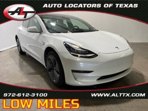 2020 Tesla Model 3 for sale at AUTO LOCATORS OF TEXAS in Plano TX