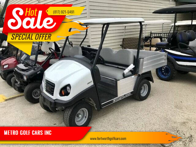 2020 Club Car Carryall 300 Electric Utility for sale at METRO GOLF CARS INC in Fort Worth TX