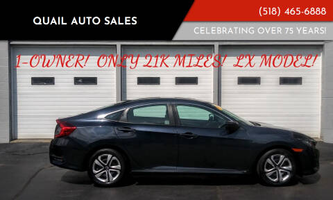 2016 Honda Civic for sale at Quail Auto Sales in Albany NY