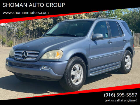 2005 Mercedes-Benz M-Class for sale at SHOMAN AUTO GROUP in Davis CA