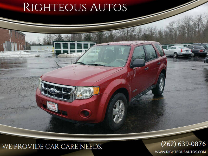 2008 Ford Escape for sale at Righteous Autos in Racine WI