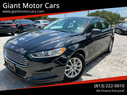 2015 Ford Fusion for sale at Giant Motor Cars in Tampa FL