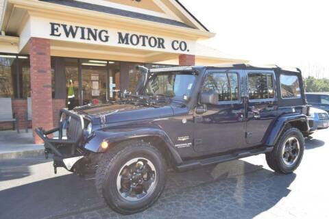2013 Jeep Wrangler Unlimited for sale at Ewing Motor Company in Buford GA