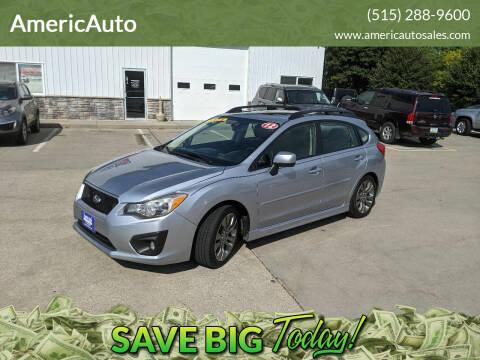 2012 Subaru Impreza for sale at AmericAuto in Des Moines IA