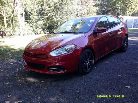 2013 Dodge Dart for sale at Jack Mansur's Auto LLC in Pelham NH
