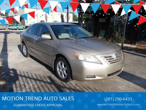 2007 Toyota Camry for sale at MOTION TREND AUTO SALES in Tomball TX