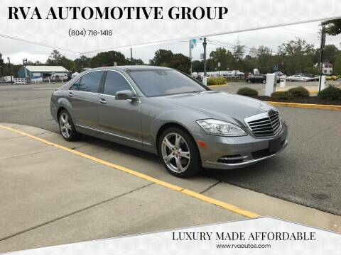 2013 Mercedes-Benz S-Class for sale at RVA Automotive Group in North Chesterfield VA