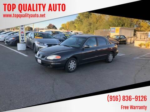 2000 Hyundai Elantra for sale at TOP QUALITY AUTO in Rancho Cordova CA