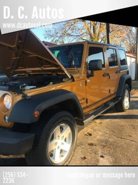 2014 Jeep Wrangler Unlimited for sale at D. C.  Autos in Huntsville AL