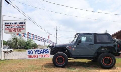 2015 Jeep Wrangler for sale at Rons Auto Sales in Stockdale TX