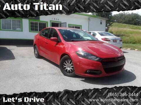 2013 Dodge Dart for sale at Auto Titan in Knoxville TN