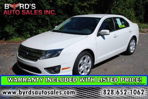 2011 Ford Fusion for sale at Byrds Auto Sales in Marion NC