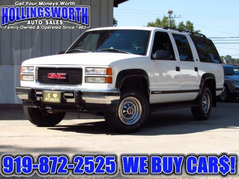 1996 GMC Suburban for sale at Hollingsworth Auto Sales in Raleigh NC