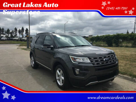 2016 Ford Explorer for sale at Great Lakes Auto Superstore in Pontiac MI