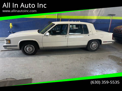 1987 Cadillac Fleetwood for sale at All In Auto Inc in Addison IL