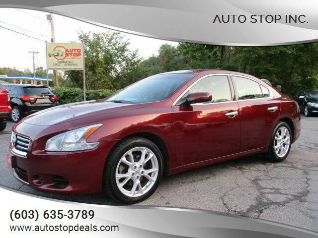 2012 Nissan Maxima for sale at AUTO STOP INC. in Pelham NH