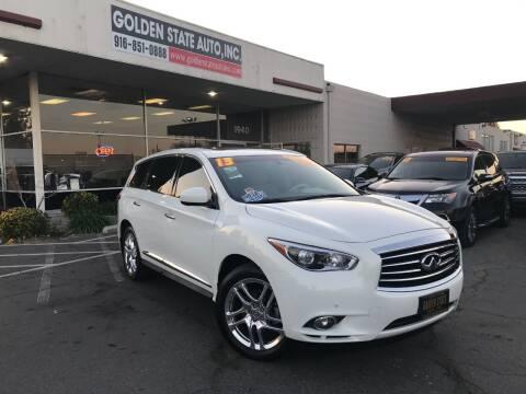 2013 Infiniti JX35 for sale at Golden State Auto Inc. in Rancho Cordova CA