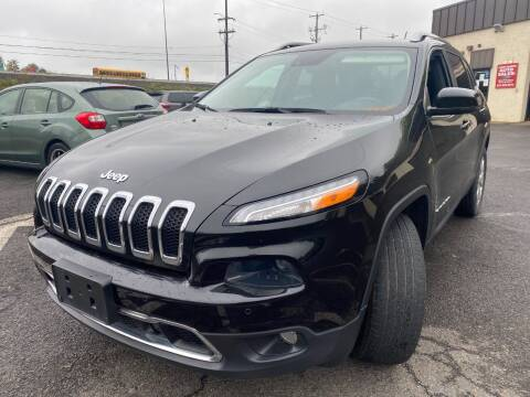 2015 Jeep Cherokee for sale at Luxury Unlimited Auto Sales Inc. in Trevose PA