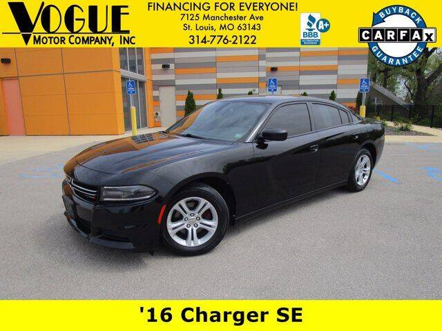 2016 Dodge Charger for sale at Vogue Motor Company Inc in Saint Louis MO