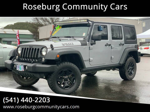 2016 Jeep Wrangler Unlimited for sale at Roseburg Community Cars in Roseburg OR