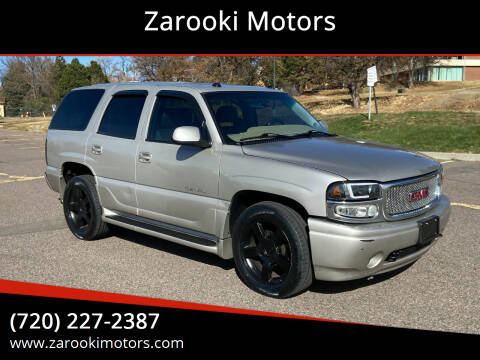2004 GMC Yukon for sale at Zarooki Motors in Englewood CO