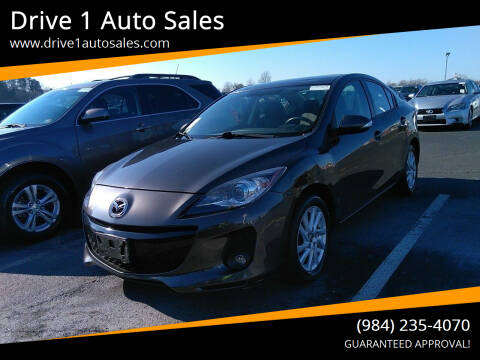 2013 Mazda MAZDA3 for sale at Drive 1 Auto Sales in Wake Forest NC