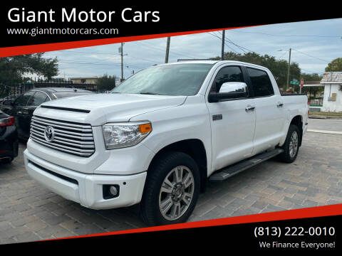 2016 Toyota Tundra for sale at Giant Motor Cars in Tampa FL