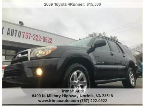 2009 Toyota 4Runner for sale at Trimax Auto Group in Norfolk VA