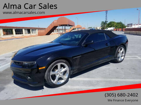 2015 Chevrolet Camaro for sale at Alma Car Sales in Miami FL