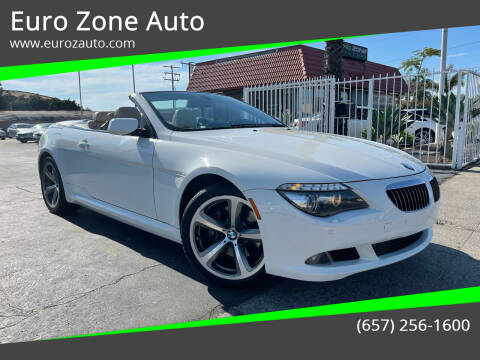 2009 BMW 6 Series for sale at Euro Zone Auto in Stanton CA