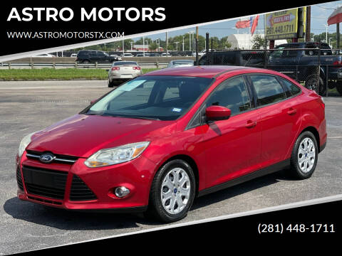 2012 Ford Focus for sale at ASTRO MOTORS in Houston TX