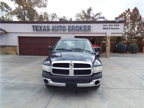 2004 Dodge Ram Pickup 1500 for sale at Texas Auto Broker in Killeen TX