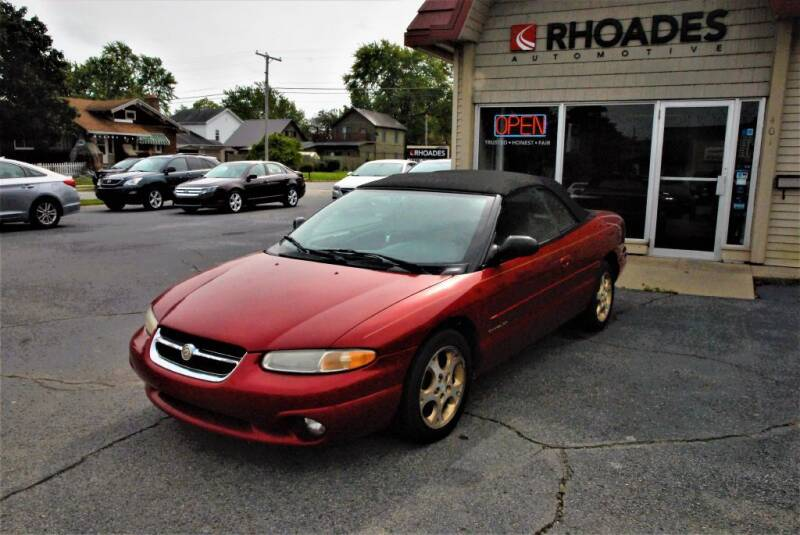 1998 Chrysler Sebring for sale at Rhoades Automotive Inc. in Columbia City IN