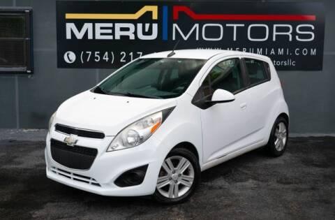 2014 Chevrolet Spark for sale at Meru Motors in Hollywood FL