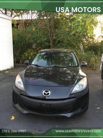 2012 Mazda MAZDA3 for sale at USA Motors in Revere MA