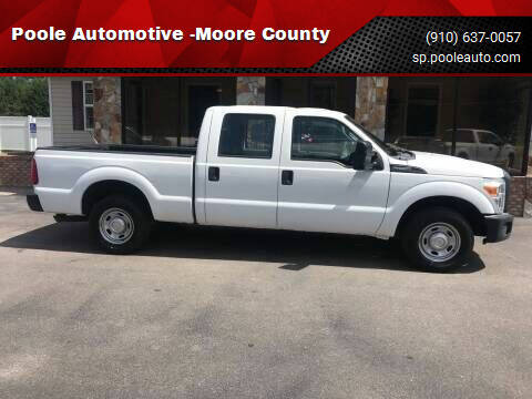 2015 Ford F-250 Super Duty for sale at Poole Automotive in Laurinburg NC