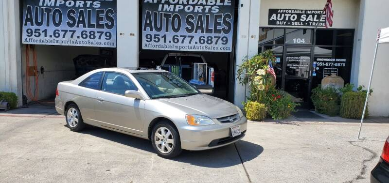 2003 Honda Civic for sale at Affordable Imports Auto Sales in Murrieta CA