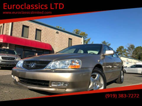 2003 Acura TL for sale at Euroclassics LTD in Durham NC