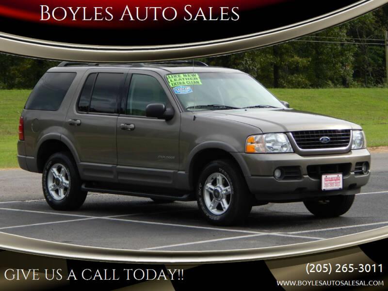 2002 Ford Explorer for sale at Boyles Auto Sales in Jasper AL