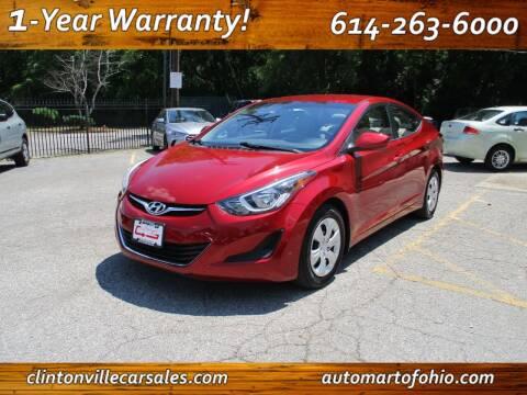 2016 Hyundai Elantra for sale at Clintonville Car Sales in Columbus OH