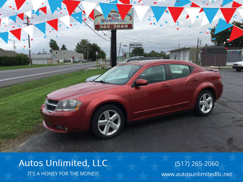 2008 Dodge Avenger for sale at Autos Unlimited, LLC in Adrian MI