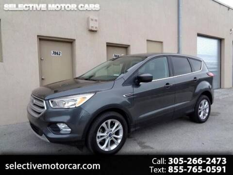 2019 Ford Escape for sale at Selective Motor Cars in Miami FL