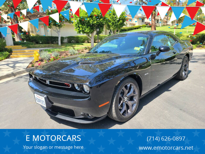 2018 Dodge Challenger for sale at E MOTORCARS in Fullerton CA