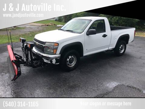 2007 Chevrolet Colorado for sale at J & J Autoville Inc. in Roanoke VA