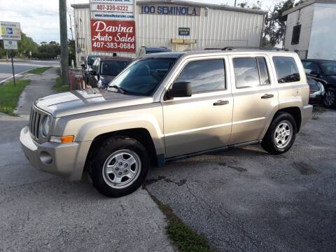 2009 Jeep Patriot for sale at DAVINA AUTO SALES in Orlando FL