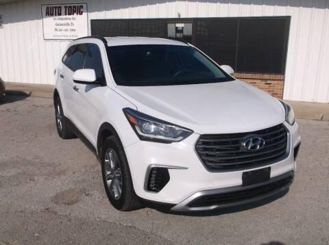 2017 Hyundai Santa Fe for sale at AUTO TOPIC in Gainesville TX